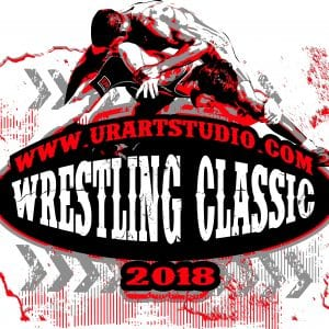 WRESTLING CLASSIC 2018 T-shirt vector logo design for print