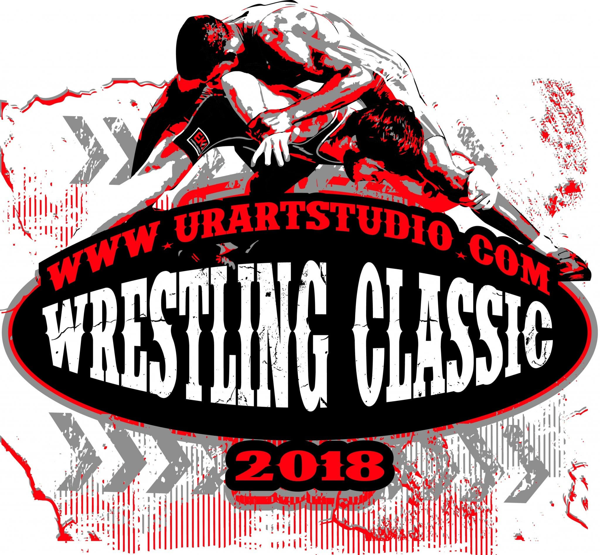 WRESTLING CLASSIC 2018 T-shirt vector logo design for print