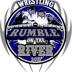 WRESTLING RUMBLE ON THE RIVER 2019 T-shirt vector logo design for print