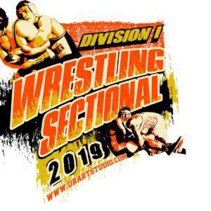 WRESTLING SECTIONAL DIVISION 1 2019 T-shirt vector logo design for print
