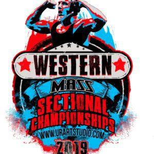 WRESTLING WESTERN MASS SECTIONAL CHAMPIONSHIPS 2019 T-shirt vector logo design for print