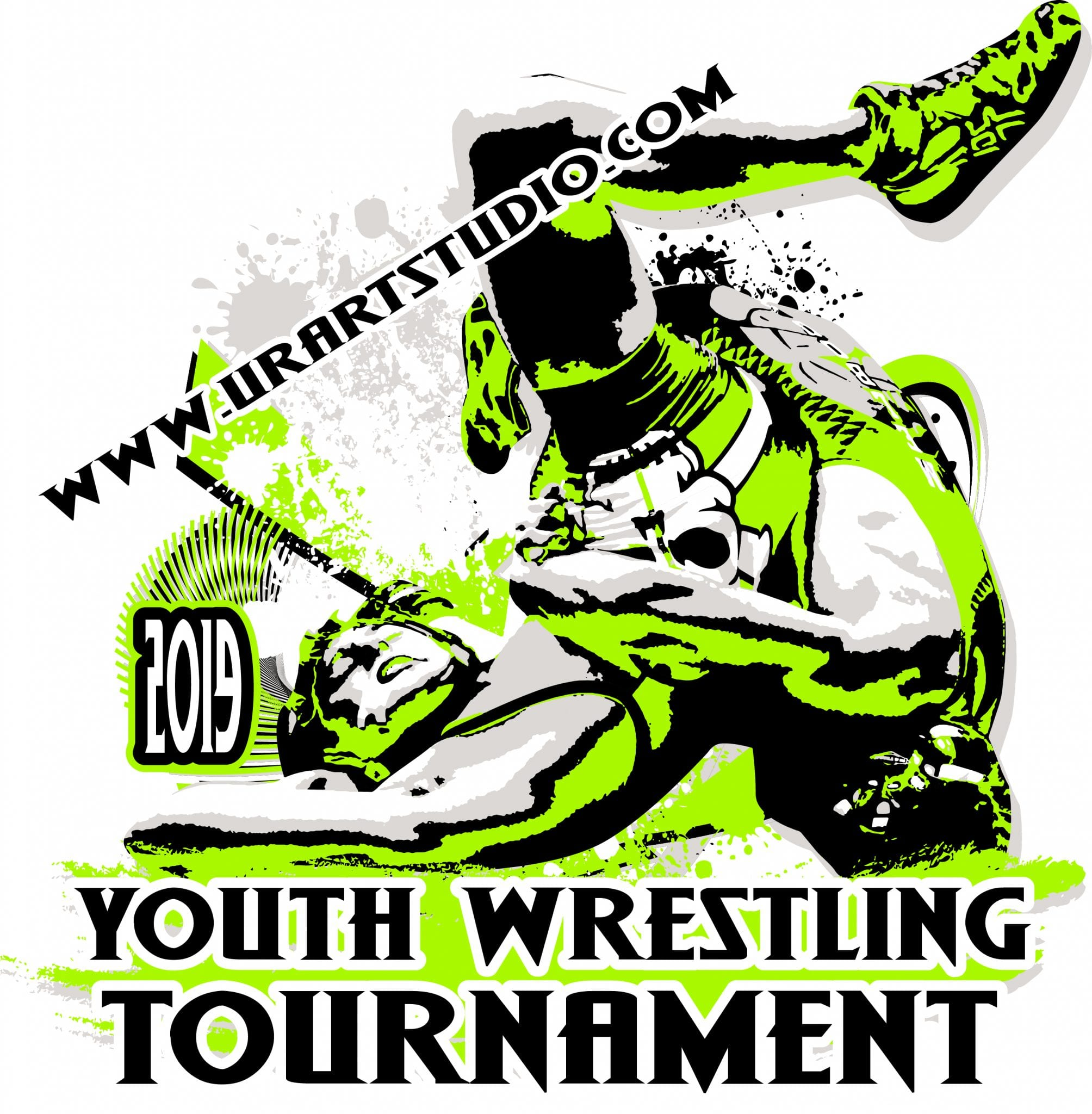 Youth Wrestling Tournament 2019 T Shirt Vector Logo Design For Print