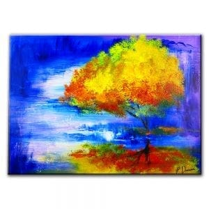 I WHISPER IN YOUR DREAMS - abstract landscape painting - tree painting