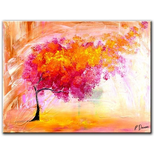 MAGENTA TREE - abstract painting