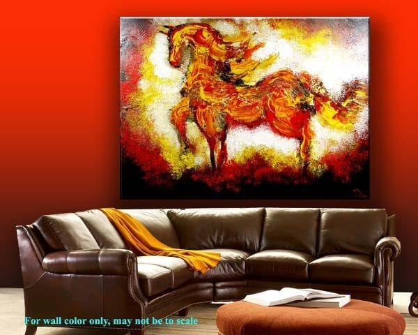 BURNING DESIRE 1 ABSTRACT HORSE PAINTING