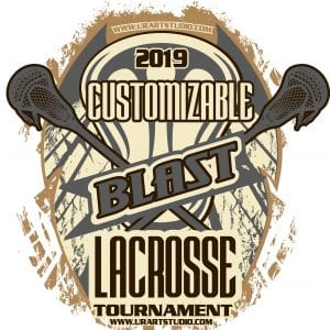 BLAST LACROSSE TOURNAMENT customizable T-shirt vector logo design for print 2019