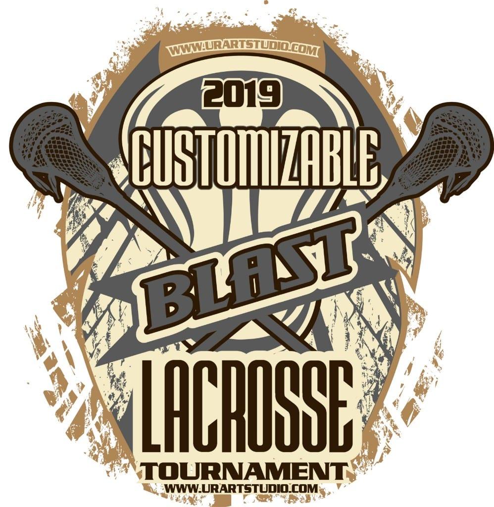BLAST LACROSSE TOURNAMENT customizable T-shirt vector logo design for print 2019