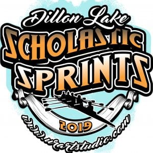 Dillon Lake Scholastic Sprints regatta customizable T-shirt vector logo design for print 2019