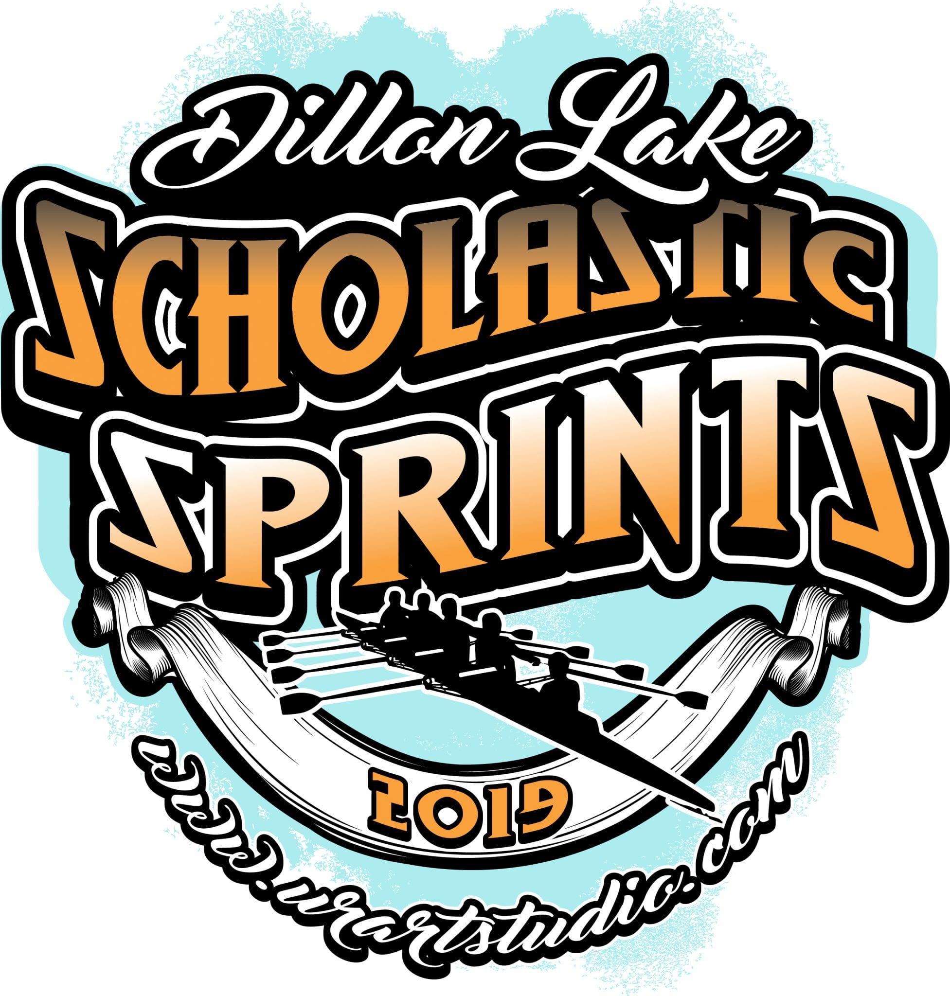 Dillon Lake Scholastic Sprints regatta customizable T-shirt vector logo design for print 2019