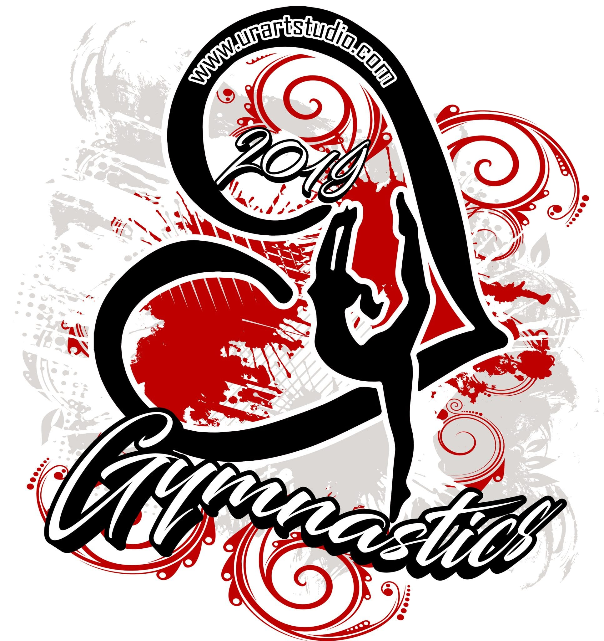 Gymnastics Customizable T Shirt Vector Logo Design For Print 2019