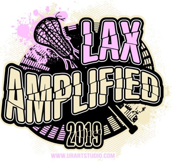 LAX AMPLIFIED Lacrosse customizable T-shirt vector logo design for print 2019