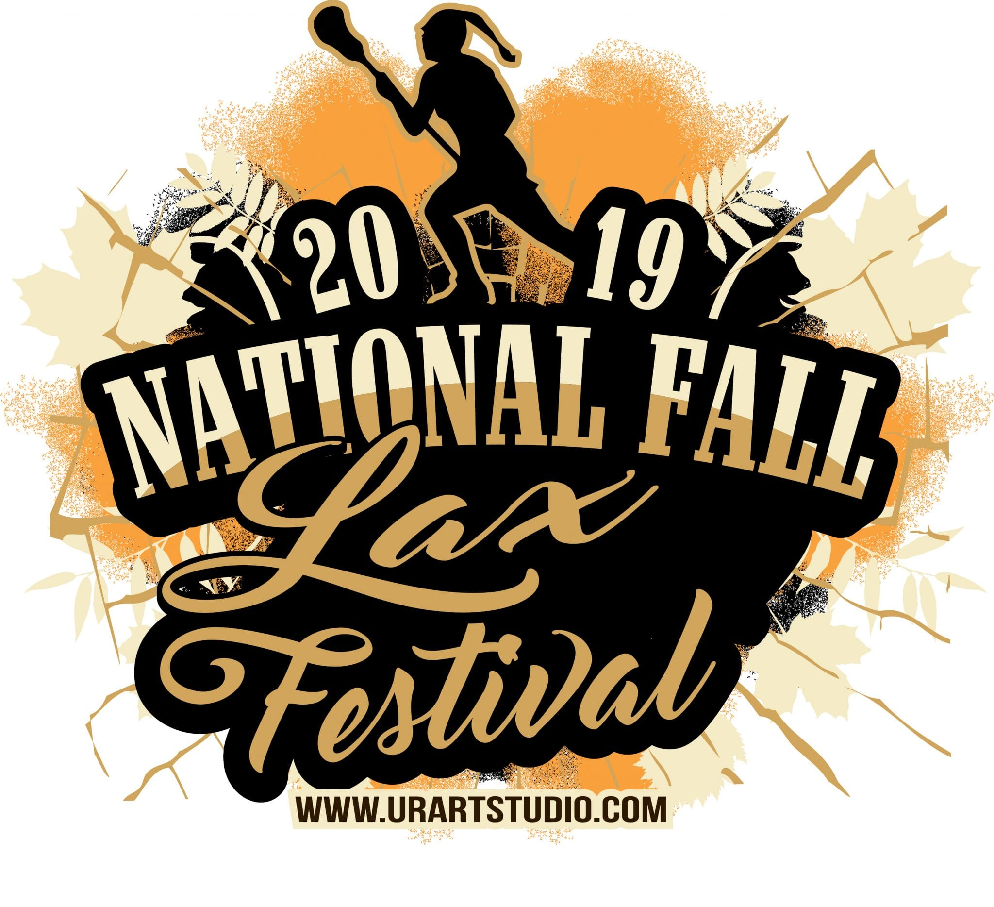 LAX FESTIVAL NATIONAL FALL Lacrosse customizable T-shirt vector logo design for print 2019