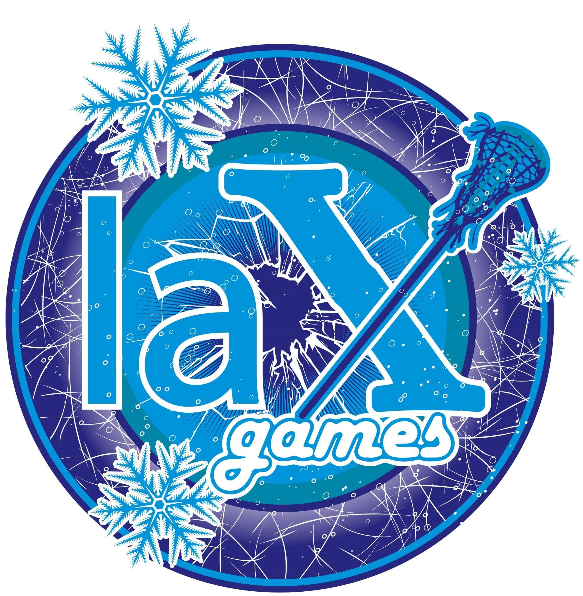 LAX GAMES T-shirt vector logo design for print