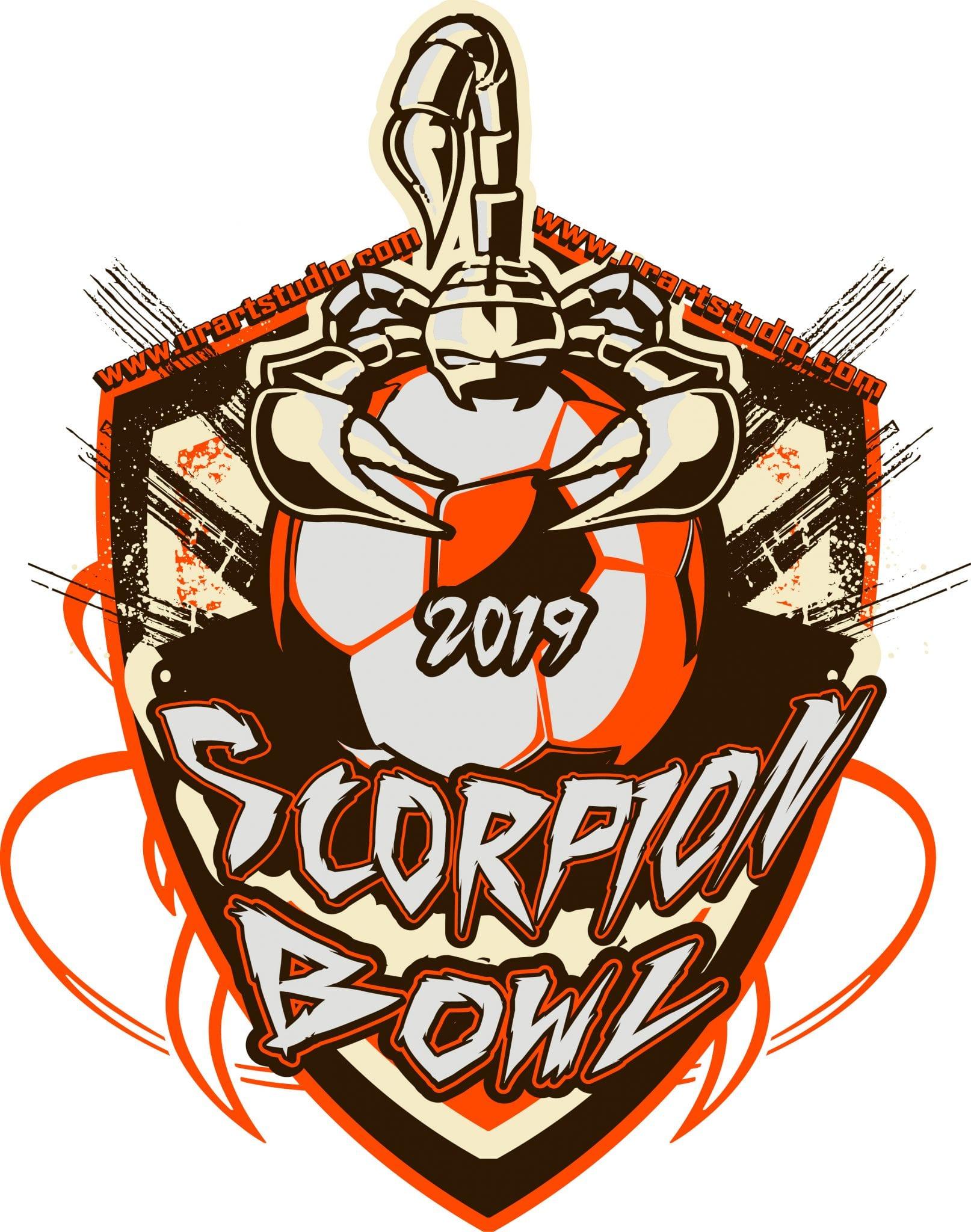 SCORPION-BOWL-SOCCER-customizable-T-shirt-vector-logo-design-for-print-2019