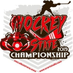 SCORPION STATE HOCKEY CHAMPIONSHIP customizable T-shirt vector logo design for print 2019
