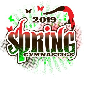 SPRING GYMNASTICS customizable T-shirt vector logo design for print 2019