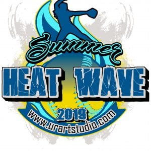 SUMMER HEAT WAVE SOFTBALL customizable T-shirt vector logo design for print 2019