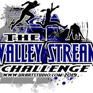 THE VALLEY STREAM CHALLENGE TRACK AND FIELD customizable T-shirt vector logo design for print 2019