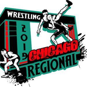 WRESTLING CHICAGO REGIONAL 2019 adjustable T-shirt vector logo design for print