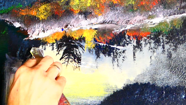"""Hey guys this is Peter Dranitsin and today I thought I will create a landscape painting of a night theme with the moon, water reflection and a waterfall. This painting is created on 18x24"""" canvas with acrylic paint. I will provide the link to art supply I used for this painting below in this video description. I think this painting will definitely make you happy and will encourage you to pick up your brushes, canvas and create similar painting on your own. So let's dive into the creation process and create this beautiful painting. Colors used for this painting: mars black, titanium white, ultramarine blue, bright green, cad red, cad yellow light hue and medium hue, yellow oxide, burnt sienna. Tools used for this painting: round brush small and large, liner brush, 2"""" brush, pallet knife, fen brush, oval brush (for blending and creating waterfall mist)"""