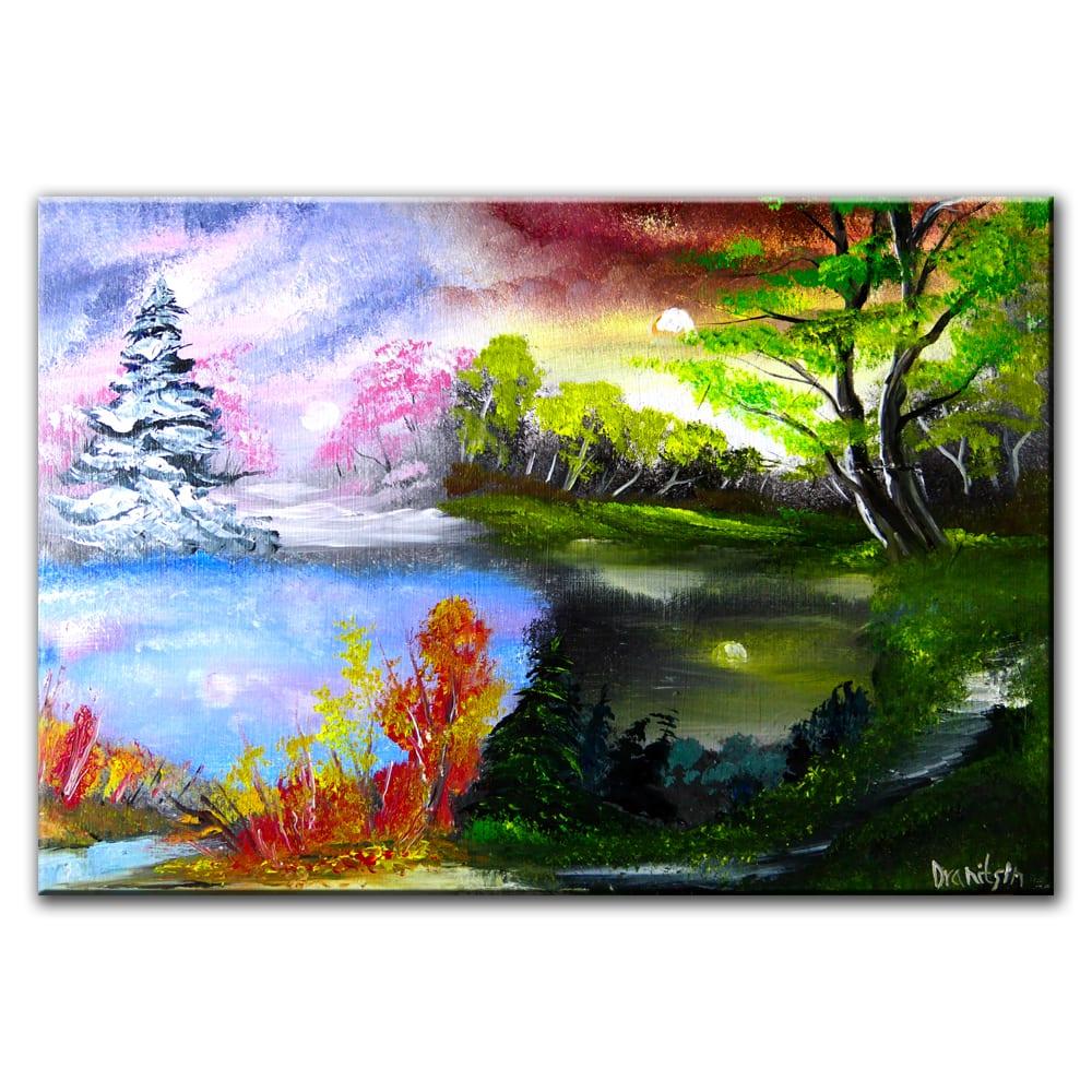 4 SEASONS, original painting by Dranitsin