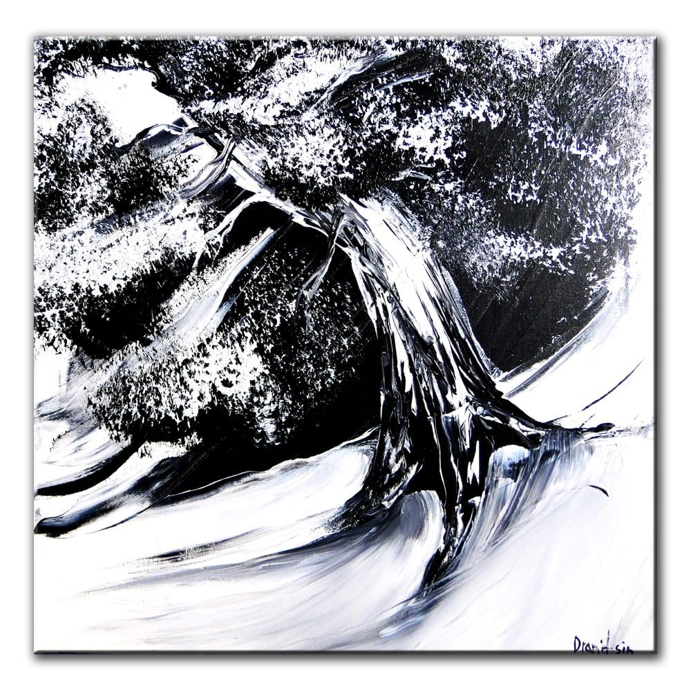 BLACK OAK TREE, original painting by Dranitsin