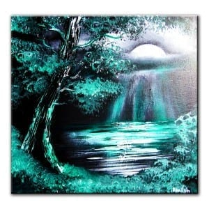 GREEN-MOON, original painting by Dranitsin