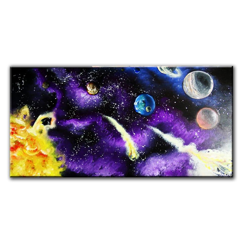 SOLAR-SYSTEM, original painting by Dranitsin