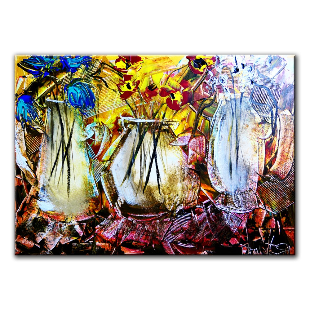 3 VASES, original painting by Dranitsin