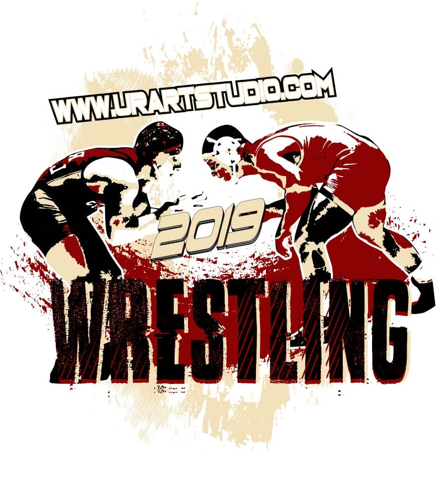 Wrestling Logo Design For Print With Adjustable Text Urartstudio Logos Paintings Art Lessons