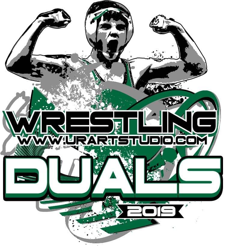 Wrestling Logo Design For Print Adjustable Font Urartstudio Logos Paintings Art Lessons