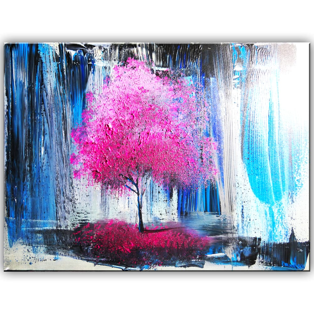 PINK TREE ABSTRACT PAINTING BY DRANITSIN