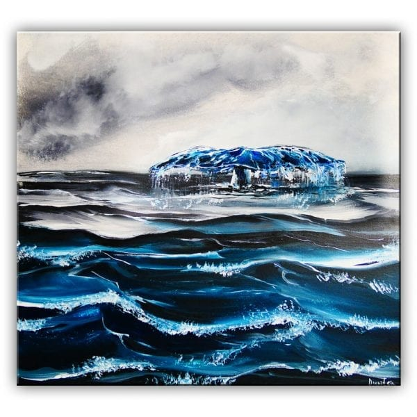 BLUE WHALE, ORIGINAL ACRYLIC PAINTING BY DRANITSIN