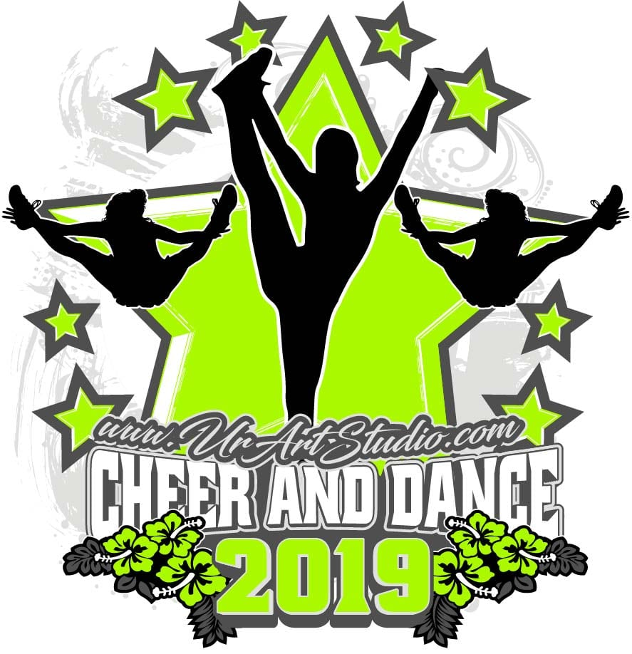 CHEER AND DANCE ADJUSTABLE LOGO DESIGN EPS, AI, PDF