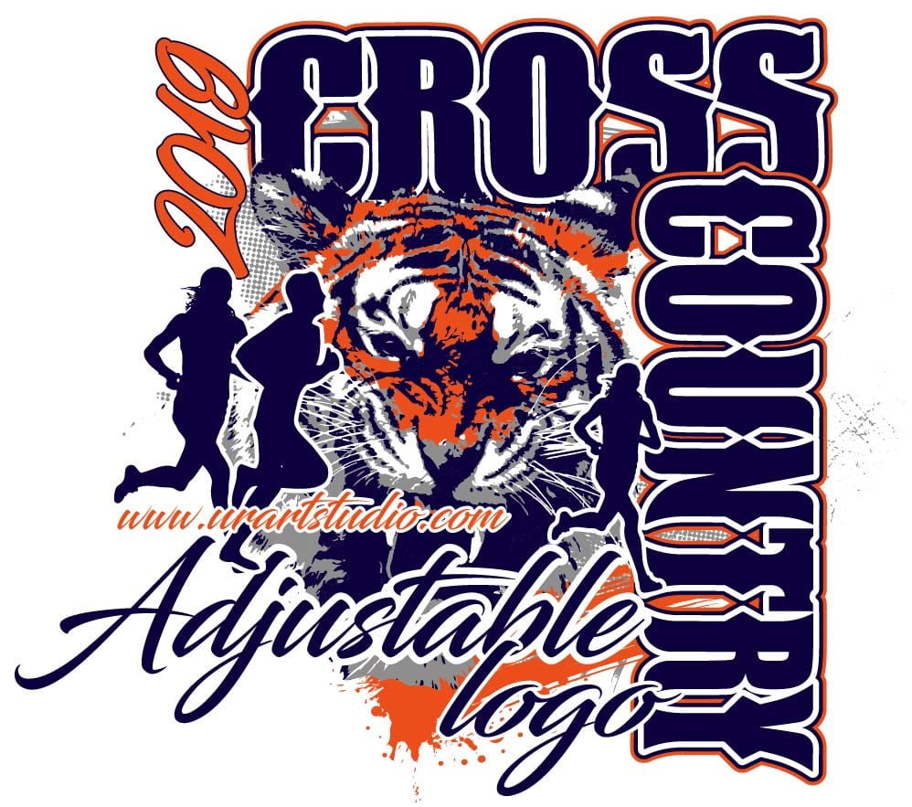 CROSS COUNTRY ADJUSTABLE VECTOR LOGO DESIGN FOR PRINT  AI and  EPS files