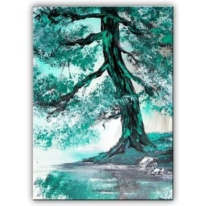 EMERALD GREEN, ORIGINAL ACRYLIC PAINTING BY DRANITSIN