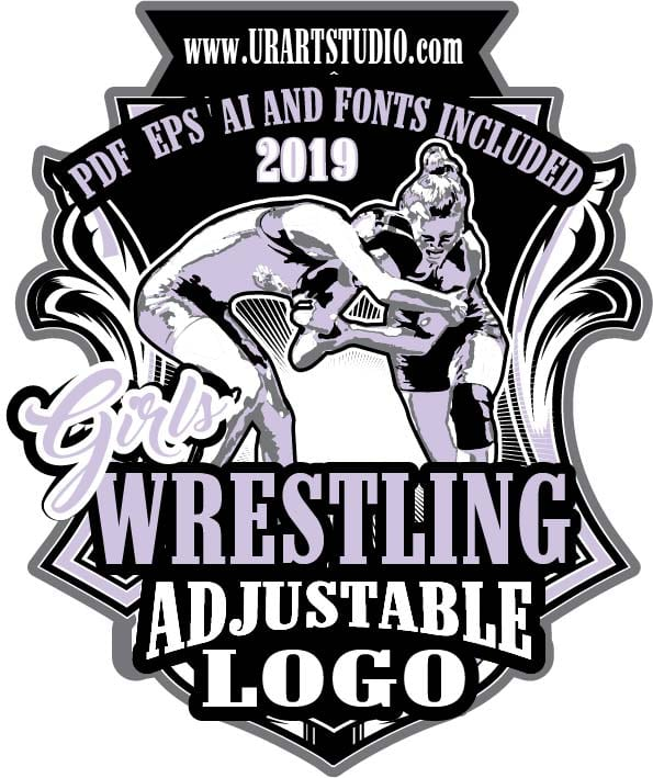 GIRLS WRESTLING ADJUSTABLE LOGO DESIGN EPS, AI, PDF 004