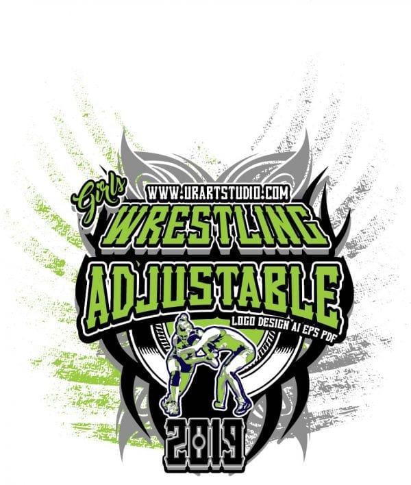 GIRLS WRESTLING ADJUSTABLE LOGO DESIGN EPS, AI, PDF 007