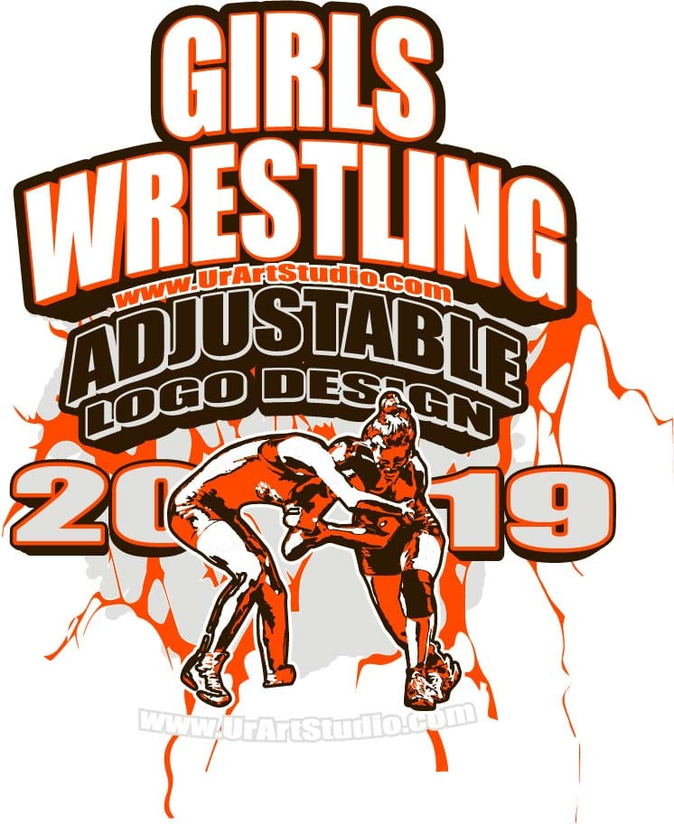 GIRLS WRESTLING ADJUSTABLE LOGO DESIGN EPS, AI, PDF 02