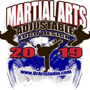 MARTIAL ARTS ADJUSTABLE LOGO DESIGN EPS, AI, PDF 02