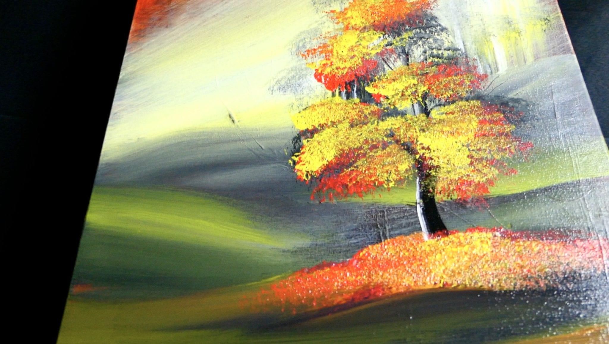 Simple Acrylic Painting Techniques Gold Season Dranitsin2