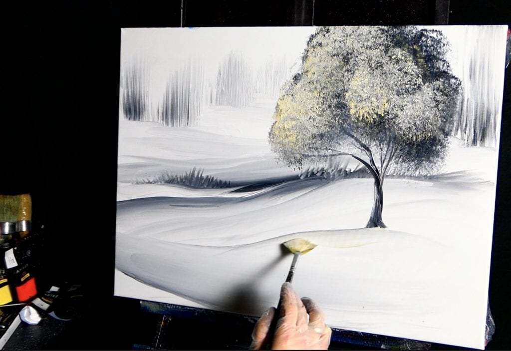 SOFT ACRYLIC BLENDING TECHNIQUES | SILENT TREE | DRANITSIN