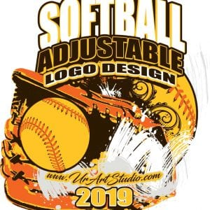 SOFTBALL ADJUSTABLE LOGO DESIGN EPS, AI, PDF