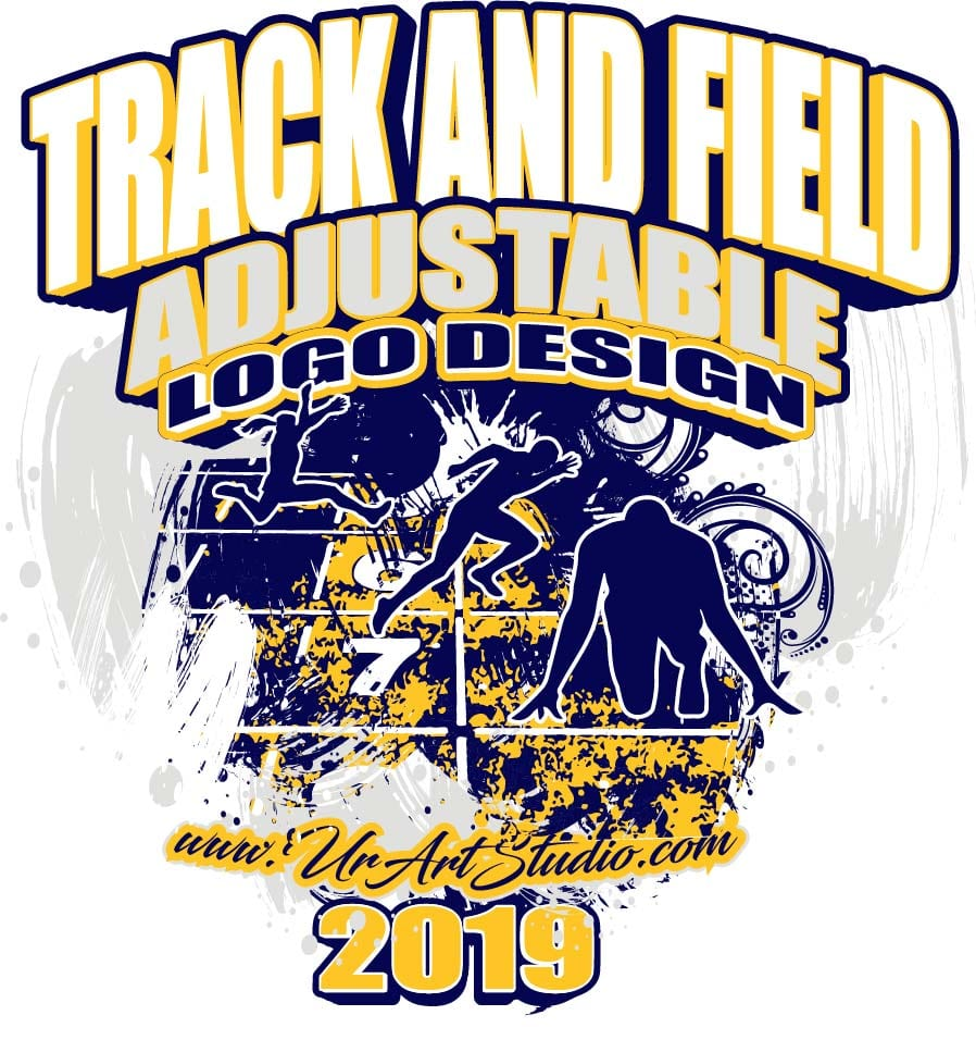 TRACK AND FIELD ADJUSTABLE LOGO DESIGN EPS, AI, PDF