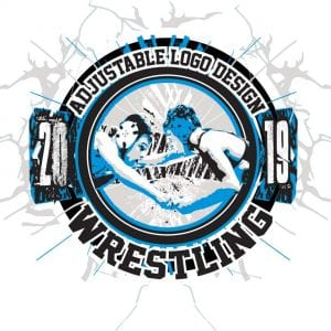WRESTLING ADJUSTABLE LOGO DESIGN 002