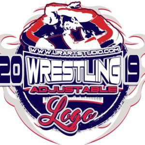 WRESTLING ADJUSTABLE LOGO DESIGN PDF, AI, EPS