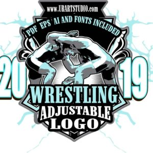 WRESTLING ADJUSTABLE LOGO DESIGN EPS, AI, PDF 004