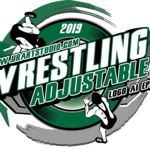 WRESTLING ADJUSTABLE LOGO DESIGN EPS, AI, PDF 005