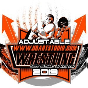 WRESTLING ADJUSTABLE LOGO DESIGN EPS, AI, PDF 006