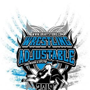 WRESTLING ADJUSTABLE LOGO DESIGN EPS, AI, PDF 007